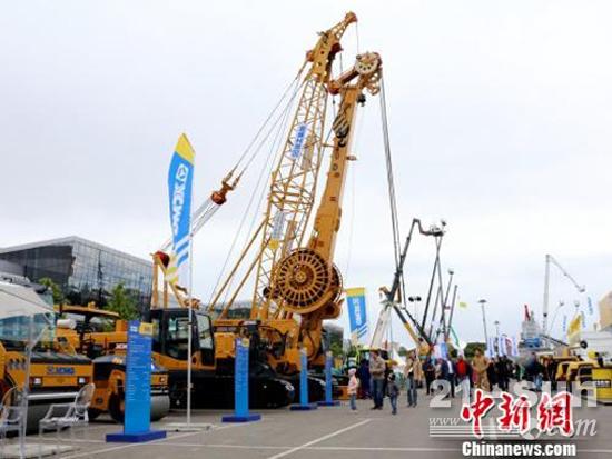 当地时间6月5日,第19届俄罗斯国际建筑机械及工程机械展(Bauma CTT Russia)在莫斯科开展。(王修君 摄)