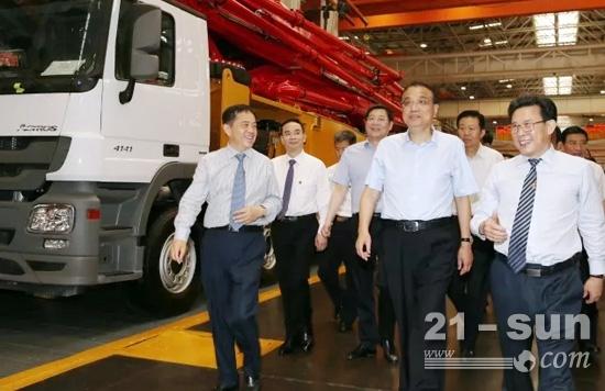 李克强总理6月12日在湖南长沙考察三一集团