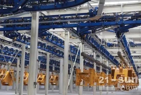 徐工智能化装载机基地采用先进积放链设备