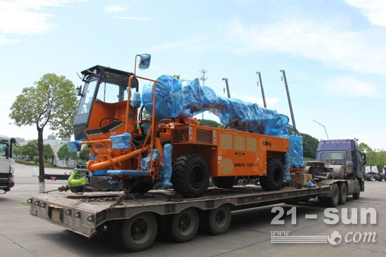 湖南CIFA本地化生产湿喷机发往塔吉克斯坦