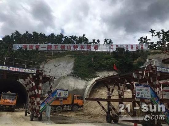 徐工助力海南最长公路隧道施工