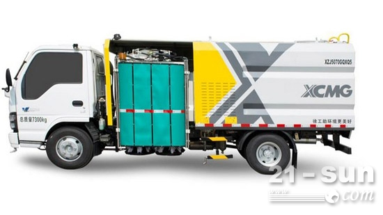 徐工环境新型护栏清洗车XZJ5070GQXQ5成功下线
