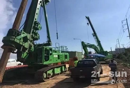 徐工成套化设备在泰国的施工现场