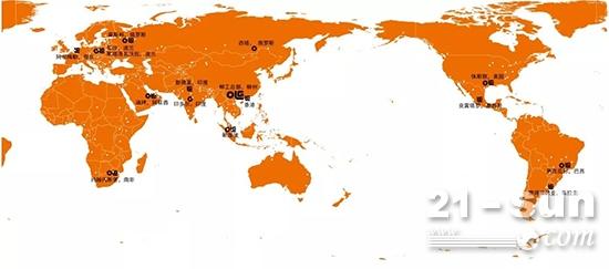 柳工全球布局