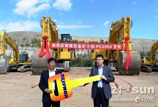 小松2台PC2000-8挖掘机在内蒙古交付用户