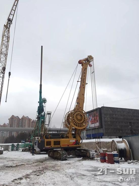 徐工XG480D助力莫斯科地铁施工