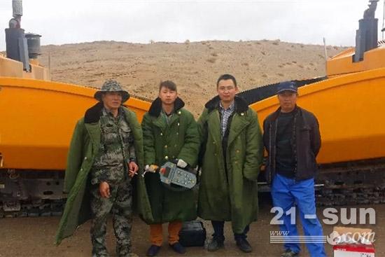 三一驻守青藏高原的服务工程师们