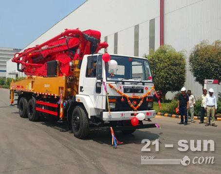 三一印度首臺本地泵車下線,卓越品質獲追捧