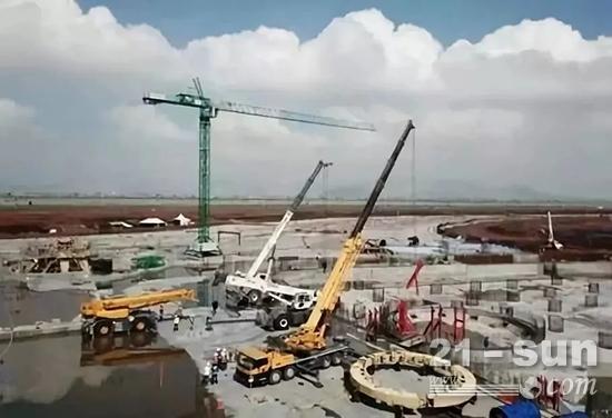 徐工设备助力墨西哥城新国际机场建设项目2017年徐工精品亮相墨西哥最大起重机械行业展会AGEDI展