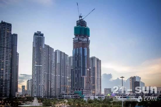越南第一高楼由三一混凝土设备浇筑完成
