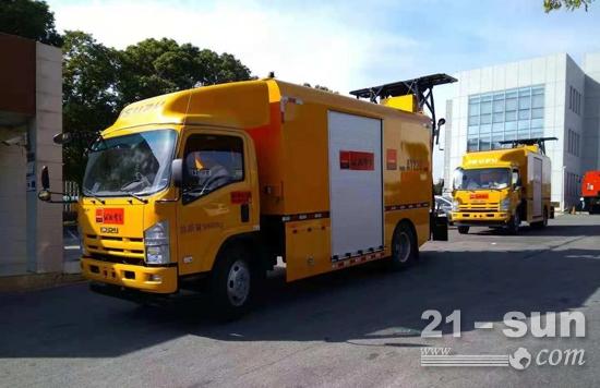 齐鲁交通济南分公司配备2台英达安全缓冲车