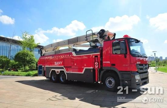 三一自主研发的消防车产品