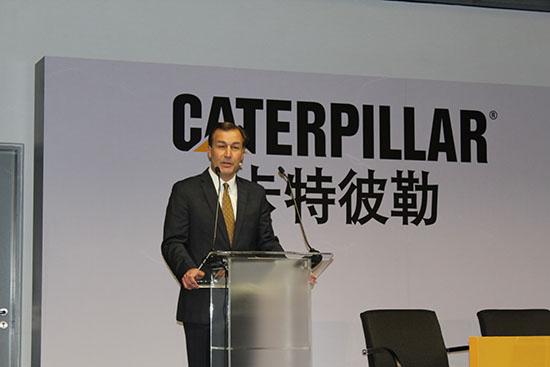 卡特彼勒负责基础建设业务的集团总裁彭唐谋致辞