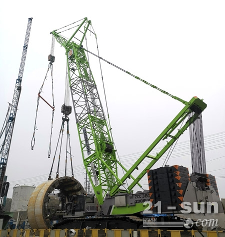 盾构吊装新利器 中联重科ZCC3800S履带起重机南通施工获赞