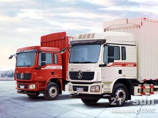 陕汽重卡 德龙L3000 4×2载货车,路有多远 心就有多暖