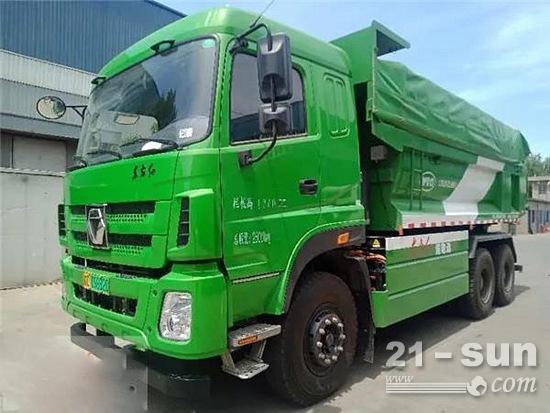 河南省首台纯电动重型工程车在中国一拖下线并交付使用