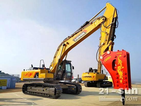 雷沃FR560E2-HD挖掘机:一台顶多台,矿山破碎真不赖