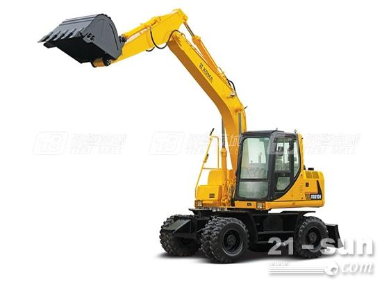 厦工15吨轮式挖掘机XG815W评测