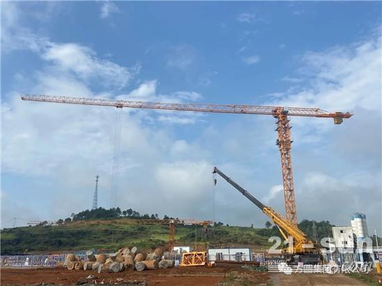 方圆PT7015型塔机服役湖南电厂项目