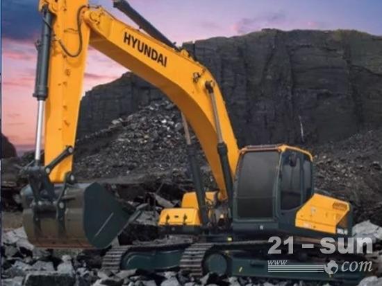 现代R305LVS挖掘机:环保,可靠,低油耗