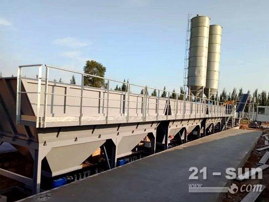 方圆集团稳定土拌和站参与国道京哈线(G102)道路建设