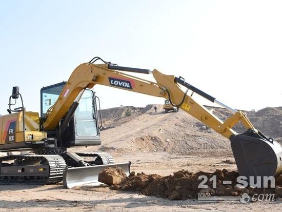 雷沃重工FR80E2小挖就是这么厉害