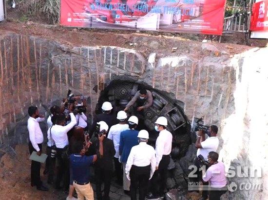 铁建重工盾构机顺利贯通斯里兰卡排水隧道工程