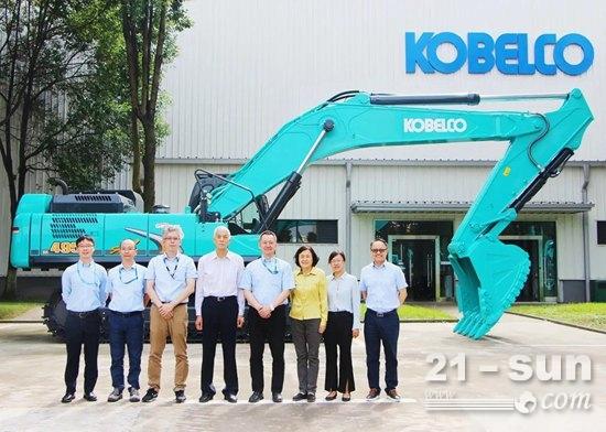 中国工程机械工业协会祁俊会长一行到访神钢建机中国