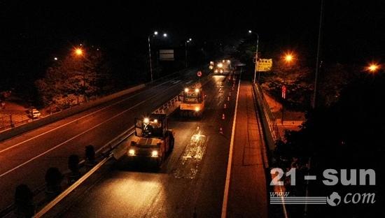 家门口的高速路 | 三一成套路面设备助力杭长高速提质改造工程