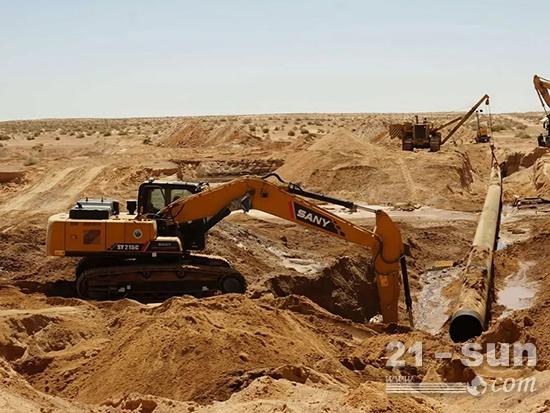 点名使用!三一挖机紧急修复非洲一起重大输油管线泄露