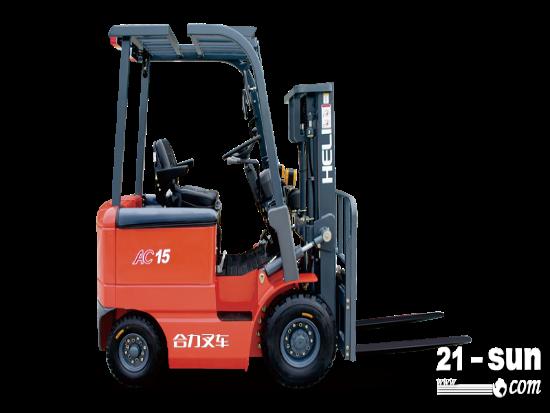 合力H系列1-1.5吨窄车身交流蓄电池平衡重式叉车