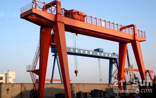 安徽宿州龙门吊出租80吨双台提梁机