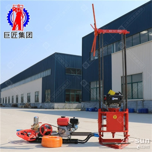 QZ-2C 型汽油轻便取样钻机采用轻便的汽油机作为动力分体