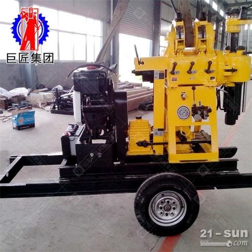 巨匠XYX-200轮式液压岩芯钻机岩心取样液压轮式钻机方便移动