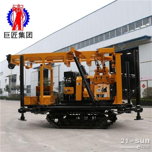 直销XYD-200履带式液压岩芯钻机 200米探矿钻机取样完整