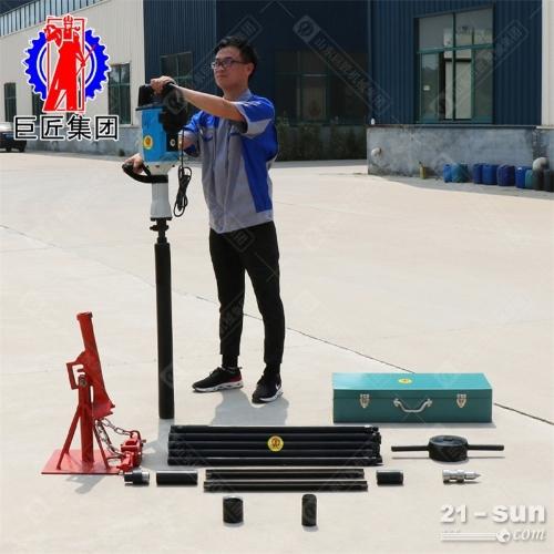20米便携式电动取土钻机QTZ-3D勘探取样冲击式取土完整
