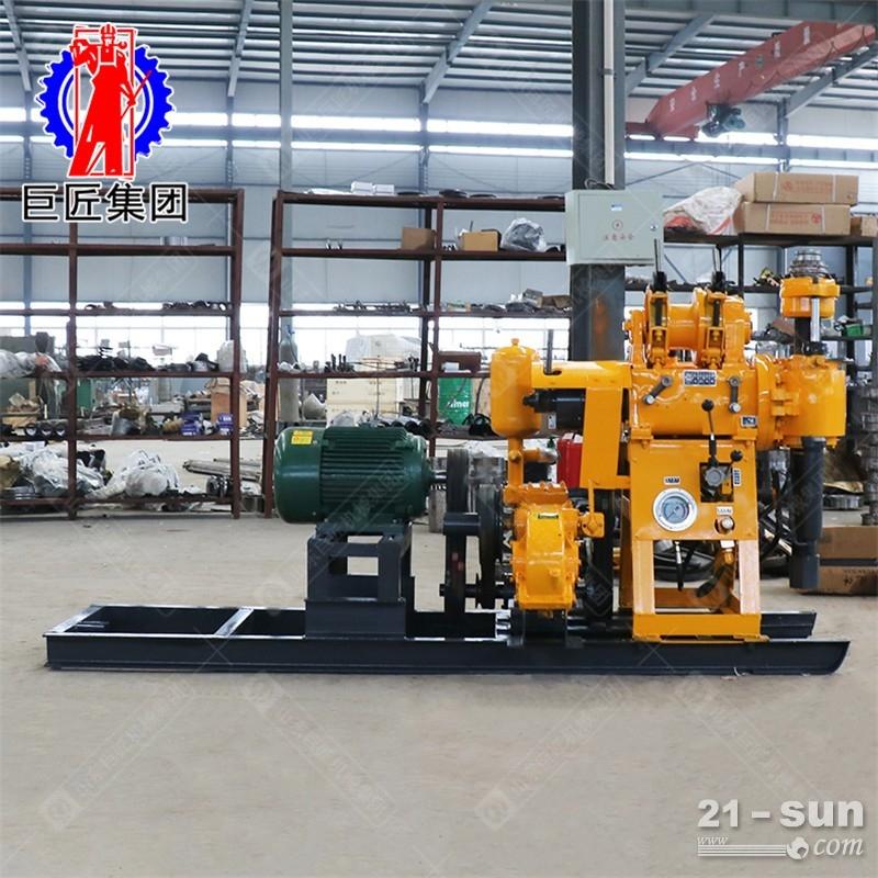 常规款130米液压水井钻机巨匠牌hz-130勘探岩芯钻机