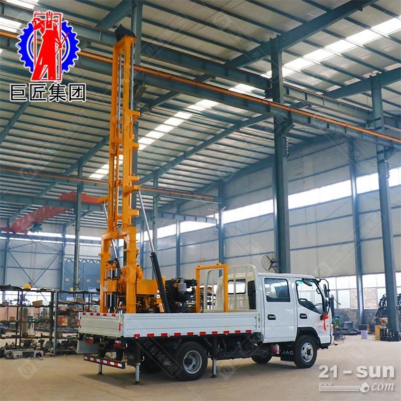 巨匠供货地质勘探钻机XYC-200型车载液压百米岩心钻机动力充沛