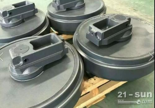 小松原装PC450-8引导轮 挖掘机配件