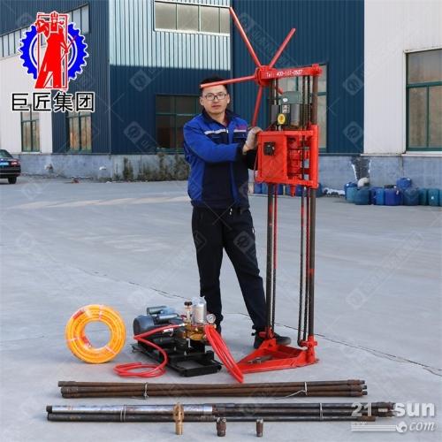 岩心取样钻机20米勘探钻机效率高浅层岩心钻机家用两相电