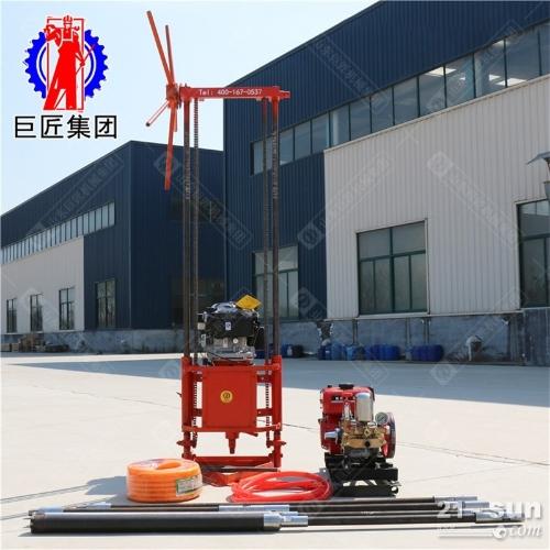 动力足的25米轻便勘探岩心钻机两人就可搬动的野外取样钻机