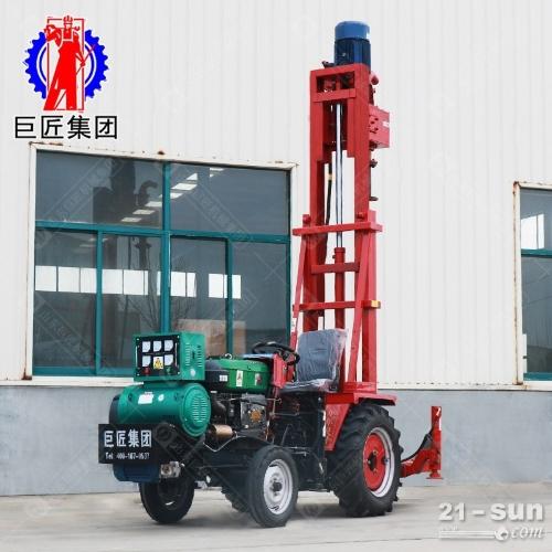 柴电两用JZ-C型拖拉机载正循环打井机效率高进尺快