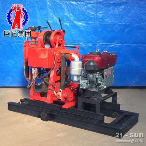 水冷柴油发动机取芯钻机xy-150型百米液压岩心钻机动力充沛
