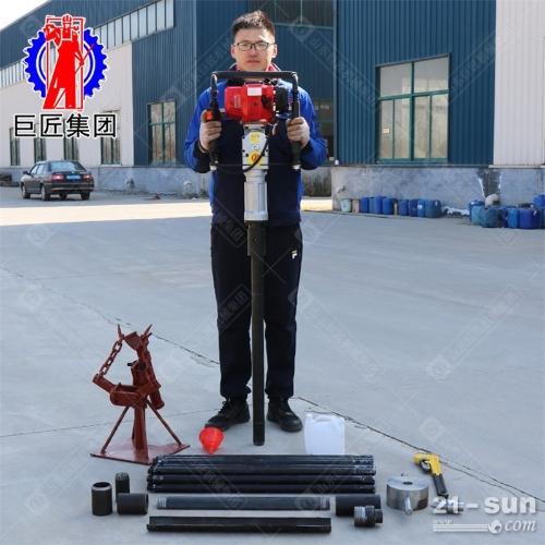 20米取土钻机QTZ-3野外取土样轻便式地质勘察浅层取样钻机