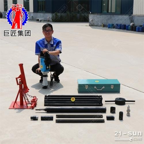 便携电动取土钻机20米勘探取样钻机进尺快土壤无扰动