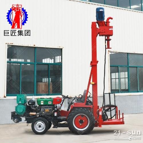 河南柴电两用JZ-C型拖拉机载正循环打井机钻井效率高进尺快