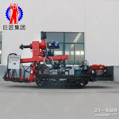 柴油机动力JZF-D型正反循环履带式打井机可打粘泥层卵石层