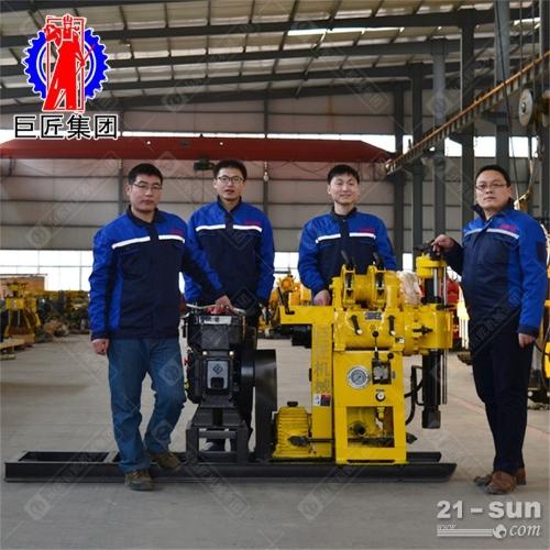 液压百米钻机HZ-130Y 130米地质勘探取样水井钻机马力大