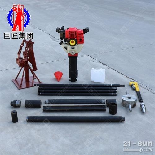 15米便携式可拆卸取土钻机手持式土壤无扰动取样钻机下钻快