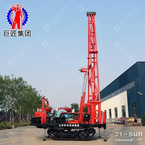 SH30-2D履带式工程勘察钻机30米砂金探矿钻机可取沙取土工程勘察 冲击式取样